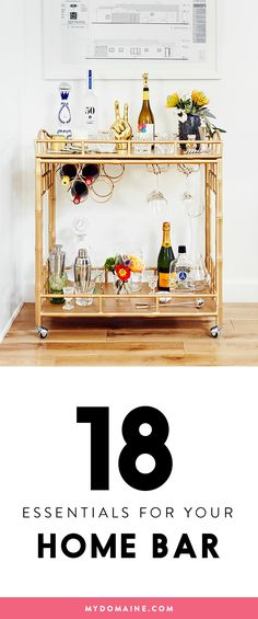 Must-haves for a at home bar