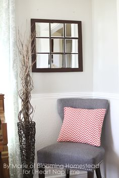 Pottery Barn Knock Off Mirror | We love the elegance of this interior idea. Nice instruction is here!