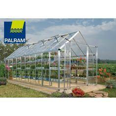 Palram Snap & Grow 8' Series Hobby Greenhouse - 8' x 20' Silver