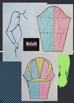 To add pleats, make your sleeve pattern according to armhole circumference, then cut it and spread it out. Sewing Hacks, Sewing Projects, Sewing Tips, Clothing Patterns, Sewing Patterns, Sewing Collars, Sewing Sleeves, Sleeves Designs For Dresses, Dress Making Patterns