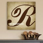 Found it at Wayfair - Personalized Gift Calligraphy Monogram Textual Art on Canvas