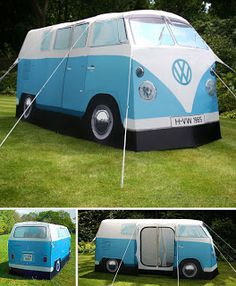 "If this is your last ""holiday"" weekend and you're going out camping... why not do it in style?  Check this funny four man ( lady, natch) ten..."
