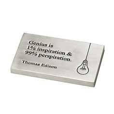 Look what I found at UncommonGoods: edison genius paperweight... for $36 #uncommongoods
