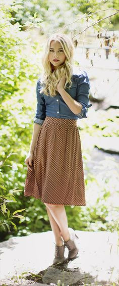 Rust Shell Skirt [MSF2031] - $39.99 : Mikarose Boutique, Reinventing Modesty
