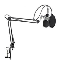 LESHP Professional Studio Broadcasting Recording Condenser Microphone & Adjustable Recording Microphone Suspension Scissor Arm Stand with Shock Mount L-35 Bracket set & USB Sound CardSiliver This is a top pick of a deal among the highest selling products online in Musical Instruments category in Canada. Click below to see its Availability and Price in YOUR country.
