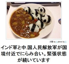 人気ボケ一覧 : ボケて(bokete) - HighlandValley.....cute rice pandas and curry yumm