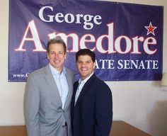 State Senate candidate George Amedore opened his Guilderland campaign headquarters at Carman Plaza (3770 Carman Rd) today. Amedore's family business, Amedore Homes, is headquartered on Western Ave in Guilderland. Wouldn't it be great to have his business perspective in the Senate.