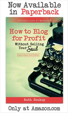 If you have a blog or have just ever thought about blogging, How to Blog for Profit is a must read!  Includes everything you need to know about creating content, growing traffic, and monetization, plus tips for working more efficiently, and detailed instruction on how to create a business plan for your blog. It has SO much specific info not found in any other blogging books.  It is seriously worth checking out just for the Pinterest tips alone!