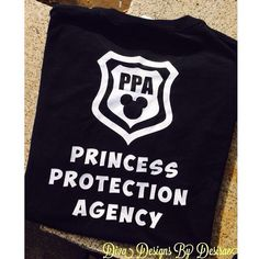Awesome princess protect agency shirt for Disney! These would be perfect for dad or her brothers. These are always a huge hit at Disney!