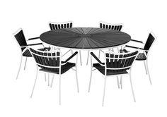 Svaneke havemøbelsæt 150 cm med 6 stole
