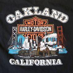 HARLEY DAVIDSON Oakland CA Since 1903 burnout unisex cotton T Shirt TOP XL #HarleyDavidson #TShirt Starting bid $14.99