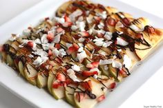 Another twist on Apple Nachos; this one from Super Healthy Kids