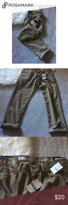 Gap Sexy Boyfriend Pants Gap corduroy Sexy Boyfriend Pants. Brand new with tags. Tan. Size 27r. GAP Jeans Boyfriend