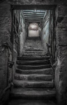 Old, House, Stairs, Cellar, Basement, Scary