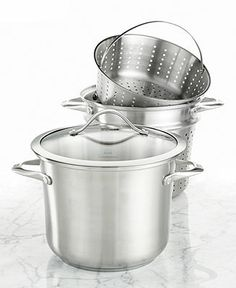 Calphalon Contemporary Stainless Steel 8-Qt. Covered Multi-Pot with Strainer & Steamer Inserts - Calphalon Contemporary Stainless - Kitchen ...