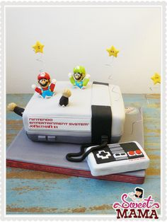 #Nintendo #SuperMario #Cake www.sweetmama.es
