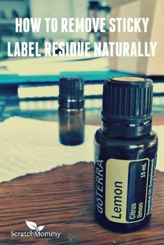 Nothing is worse than peeling off a label and being left with sticky residue. Here's how to remove sticky label residue naturally with just one simple ingredient.