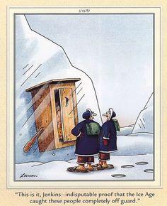 the far side caveman cartoons - Google Search
