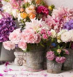 Shabby Chic Flowers Decoration