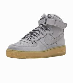 NIKE+Air+Force+1+High+Kid's+high+top+sneaker+Lace+closure+Nike +swoosh+branding+Padded+tongue+Ankle+strap+lace+closure+GUm+outsole