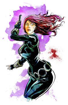 Black Widow - Print by KineticPress