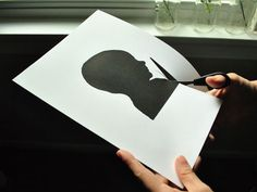 DIY Silhouette from a photograph.  Head Shot | Young House Love