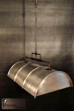 Pendelleuchte Hängelampe Hängeleuchte aus 60 l Fass Ölfass Industrie poliert