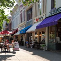 The New England-like village of Granville Ohio is home to Denison University and a host of shops and galleries that line the quaint, tree-lined streets of the downtown.