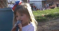 Little girl's adorable, creepy version of national anthem is honestly perfect