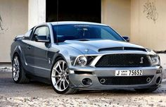 Chrome Shelby Cobra Mustang GT.