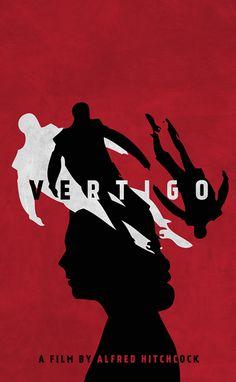 Vertigo (1958) ~ Minimal Movie Poster by Neven Udovicic #amusementphile