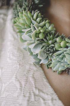 まさに緑の宝石。多肉植物でつくるブライダルジュエリーは、DIY婚にピッタリ - ライブドアニュース
