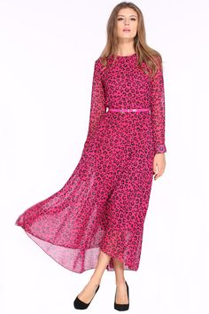 Shop Rose Red Long Sleeve Leopard Maxi Dress online. Sheinside offers Rose Red Long Sleeve Leopard Maxi Dress & more to fit your fashionable needs. Free Shipping Worldwide!