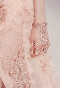 Pink lace...