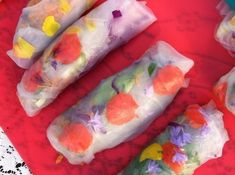 Spring rolls take on a whole new meaning. | Community Post: 11 Extreme But Elegant Edible Flower Foods