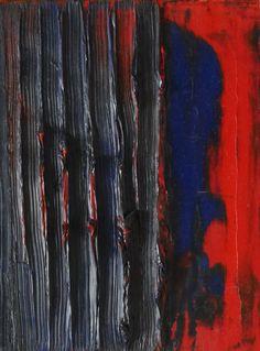 Riny Van Cleef, Oktober 2014, olieverf , 20 x 14 cm.