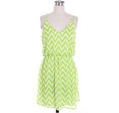 Fresh Green Chevron Dress Cute Zig Zag Pattern by LemniscateAddict, $38.99