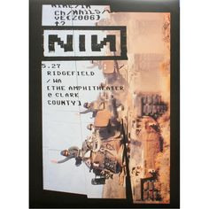 Nine Inch Nails Tour Poster.