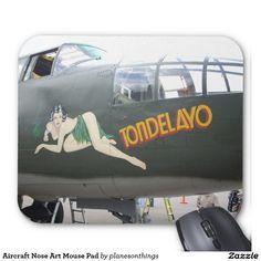 Aircraft Nose Art Mouse Pad