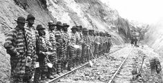 1930's  prison Chain Gangs and other prison work crews.