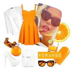 #orange by miqua on Polyvore featuring Mode, Miss Selfridge, Quiz, Nly Shoes, Fornash and Hermès Miss Selfridge, Shoe Bag, Orange, Polyvore, Stuff To Buy, Shopping, Shoes, Design, Fashion