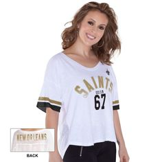 NFL New Orleans Saints Touch by Alyssa Milano Women s Hadley T-Shirt Γ-  White f0af141f5