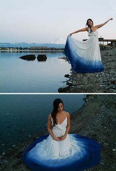 """pancakeman720: """" sixpenceee: """" These dip-dyed wedding dresses are the amazing new trend! Here is where you can find more information and DIY. """" Holy shit these are great """" @mnemmy"""
