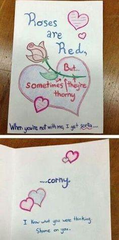 """Cute, """"I miss you"""", card."""