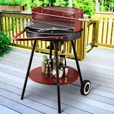 Outsunny Charcoal Barbecue with Windshield