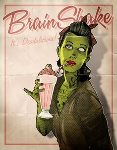 I dream of a zombie pin up girl tat one day. This is an amazing inspiration to jump off of!