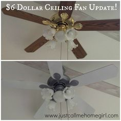 Update your ceiling fan with spray paint!