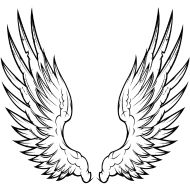 angel wings T-shirt moulant Homme Flower Thigh Tattoos, Small Forearm Tattoos, Body Art Tattoos, Tattoo Drawings, Angel Wings Drawing, Angel Wings Art, Leo Tattoo Designs, Fairy Tattoo Designs, Archangel Michael Tattoo