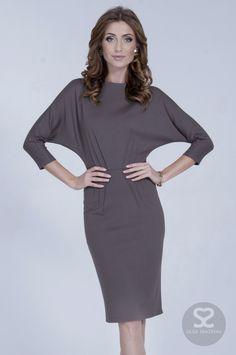 Стильное приталенное платье из итальянского трикотажа | Skazkina