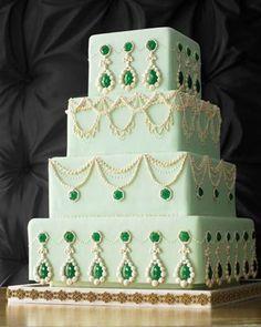 Emerlad Wedding Cake Designs